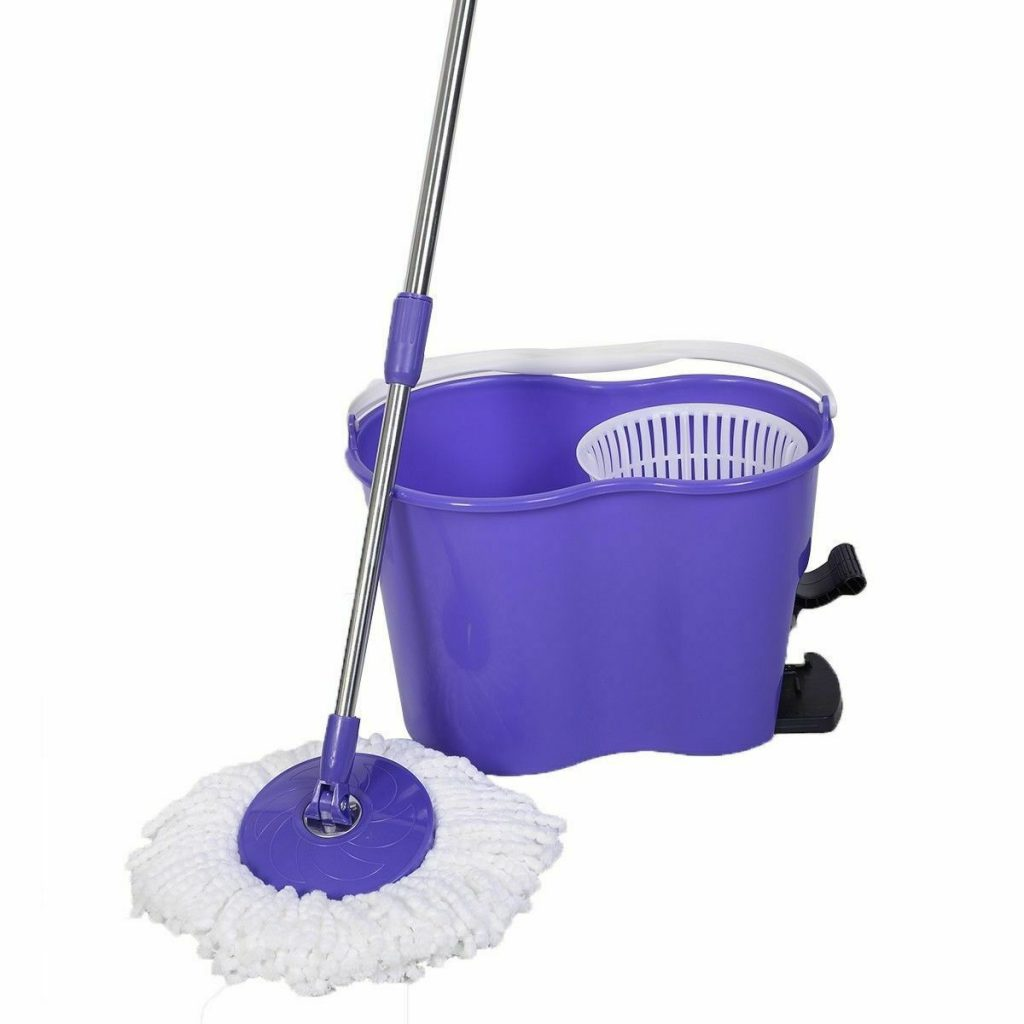 Purple Magic Rotating Spin Mop with Dehydrate Bucket
