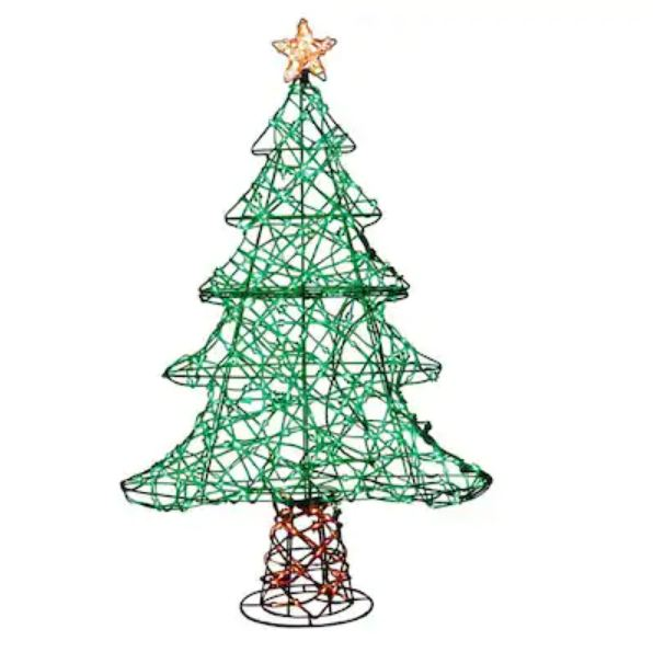 36-in Christmas Tree Sculpture with Multicolor LED Lights